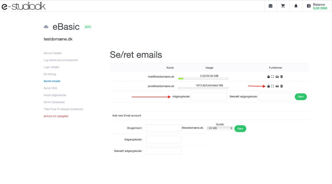 Sådan oprettes emailadresser step 3